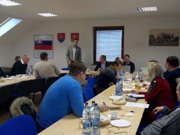 """Zasadnutie Rady a Valného zhromaždenia MAS """"Horný Šariš – Minčol"""" 20.1.2020"""